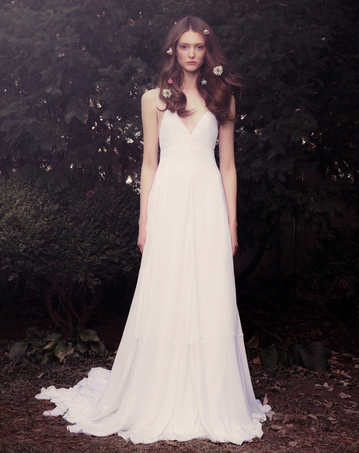 Silk georgette sleeveless illusion gown