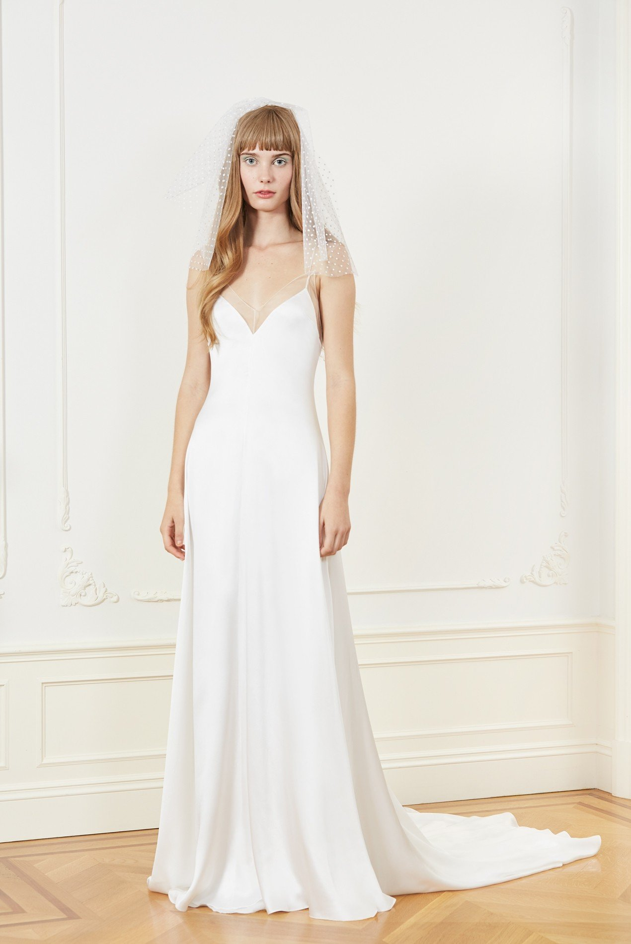 silk charmeuse slip gown
